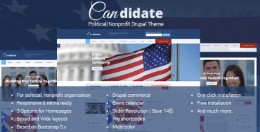 Drupal Candidate theme