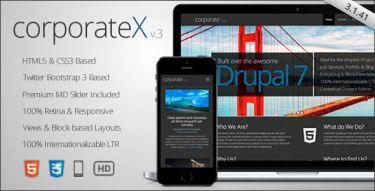 Drupal Corporate X Theme