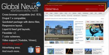 Drupal global news portal theme