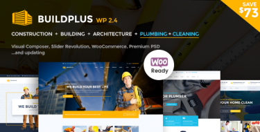 WordPress BuildPlus Construction Theme