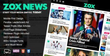 WordPress Zox News Theme