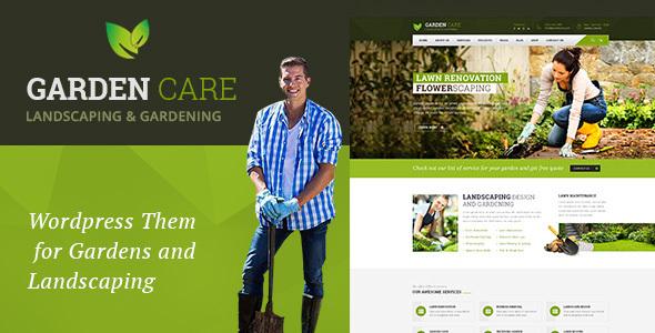 WordPress Garden Care Theme