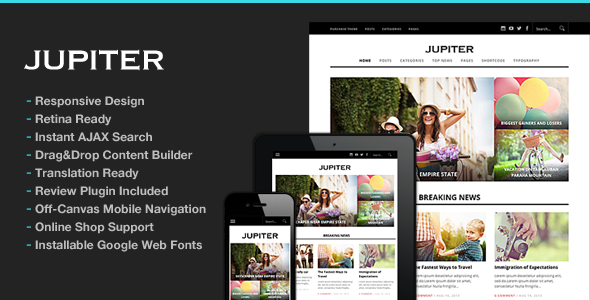 wordpress jupiter v6 theme