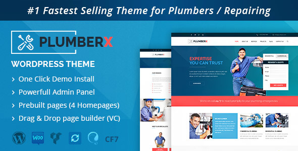 WordPress PlumberX Theme