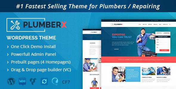 WordPress PlumberX Theme