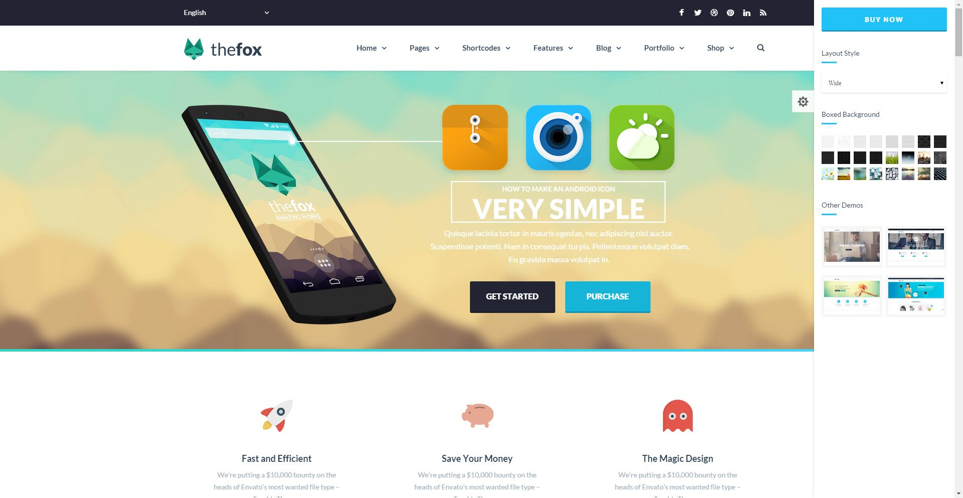 WordPress The Fox Theme