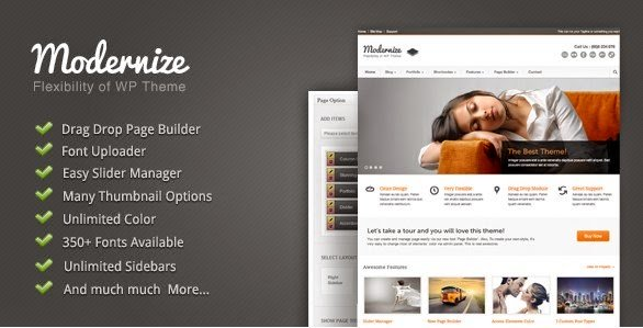 WordPress Modernize Theme