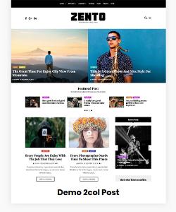 Zento Demo 2 column Post