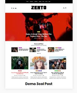 Zento Demo 3 Col Post