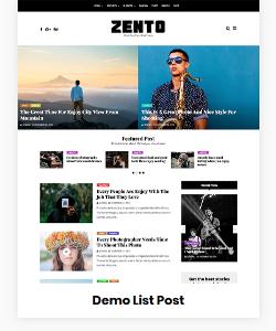 Zento Demo List Post
