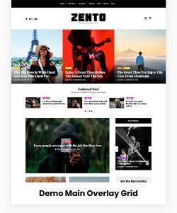 Zento Demo Main Overlay Grid